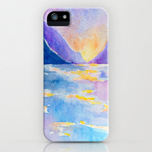 iPhone Case Morning Radiance - Sunrise Painting - Designer iPhone Samsung Case - Brazen Design Studio