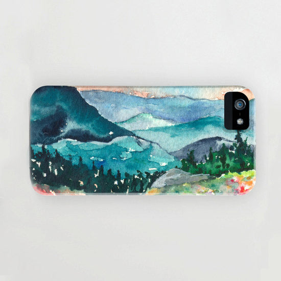 iPhone 7 Case - Valley of Dreams Watercolor Painting - Designer iPhone Samsung Case - Brazen Design Studio