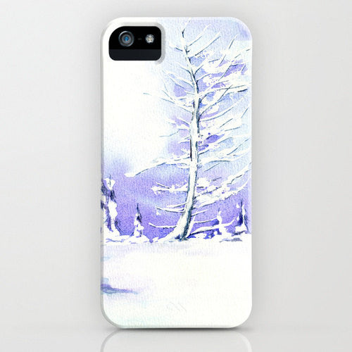 I Phone Case Winter Tree   Landscape Painting  ...