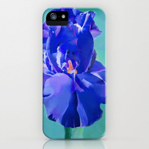 Floral Phone 7 Case - Monet Iris Flower Painting - Samsung Case - Brazen Design Studio