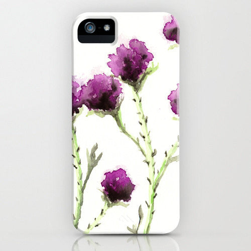 Floral I Phone 7 Case   Milk Thistle Painting  ...