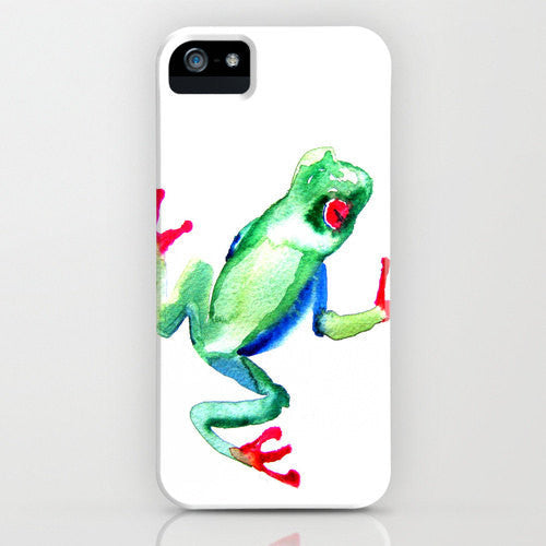 Tree Frog Phone Case - Wildife Painting - Designer iPhone Samsung Case - Brazen Design Studio