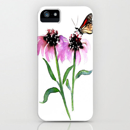 Floral Phone Case Monarch Butterfly   Floral...