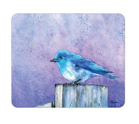 Mousepad - Bluebird Wildlife Painting - Art for Home or Office - Brazen Design Studio