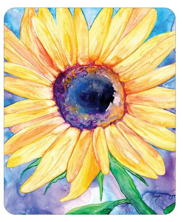 Mousepad - Sunflower Painting - Art for Home or Office - Brazen Design Studio