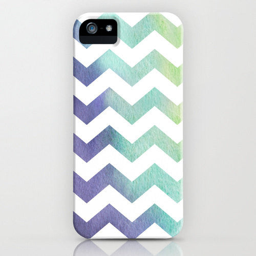 Geometric iPhone 7 Case - Chevron Tribal Watercolor Painting - Abstract Art - Designer Case - Brazen Design Studio