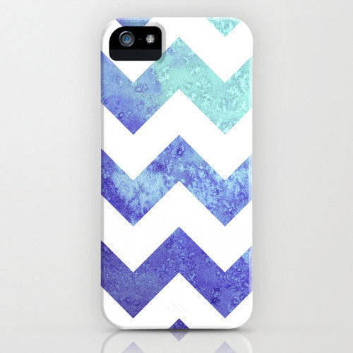 Geometric iPhone 7 Case - Chevron Watercolor Painting - Abstract Art - Designer iPhone 6S or Samsung S6 Case - Brazen Design Studio