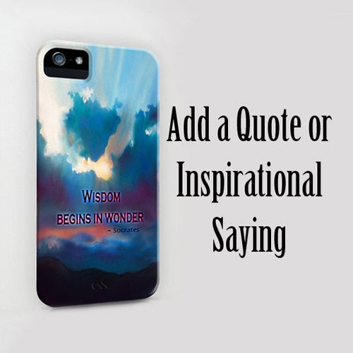 detailed pictures 609c4 cc1b5 Personalized Phone Case - Custom Inspirational Quote Case - Designer iPhone  6 Samsung S5 Case