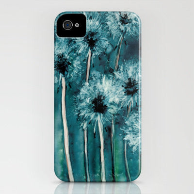 Floral iPhone 7 Case Dandelion Wishes Painting - Cell Phone Cover - Designer iPhone Samsung Case - Brazen Design Studio