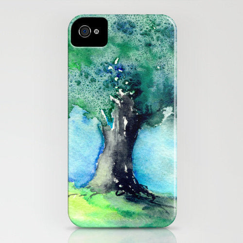 Watercolor Phone Case - Oak Tree Painting - Cell Phone Cover - Designer iPhone Samsung Case - Brazen Design Studio