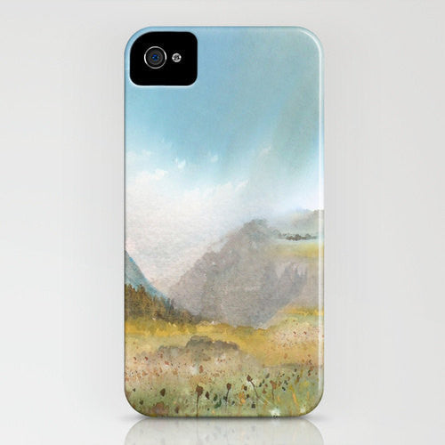 Meadow Phone Case - Landscape Painting - Designer iPhone Samsung Case - Brazen Design Studio