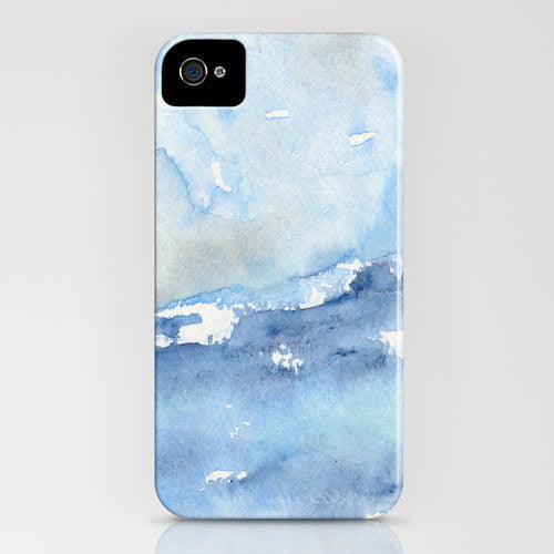 Ocean Wave Phone Case - Watercolor Painting - Tempest - Designer iPhone Samsung Case - Brazen Design Studio
