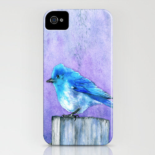Bluebird Phone Case - Watercolor Painting - Designer iPhone Samsung Case - Brazen Design Studio