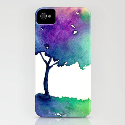 iPhone 7 Case Watercolor Case Hue Tree Painting Cell Phone Cover - Designer iPhone Samsung Case - Brazen Design Studio