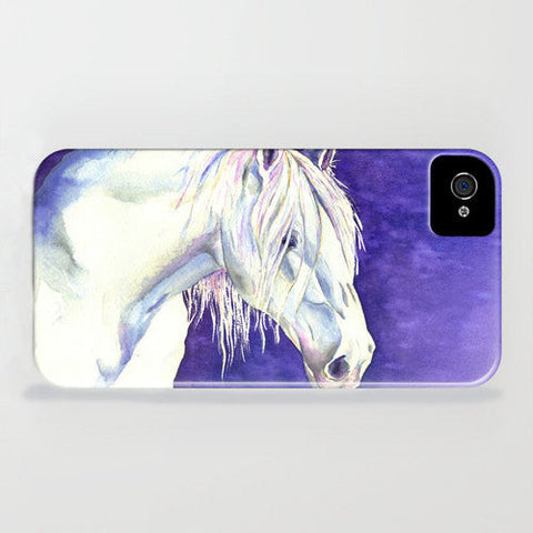 Phone Case Blue Concrete Textured Painting - Designer iPhone Samsung Case