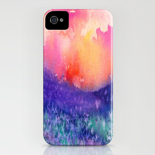 Floral Phone Case Lupin Valley - Wildflowers Watercolor Painting - Designer iPhone Samsung Case - Brazen Design Studio