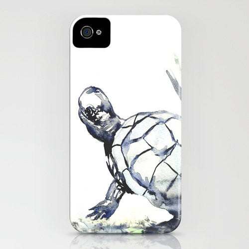 Turtle Phone Case - Wildlife Painting  Cell Phone Cover - Designer iPhone Samsung Case - Brazen Design Studio