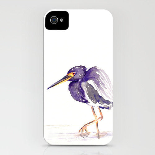 Heron Phone Case - Wildlife Bird Art - Designer iPhone Samsung Case - Brazen Design Studio