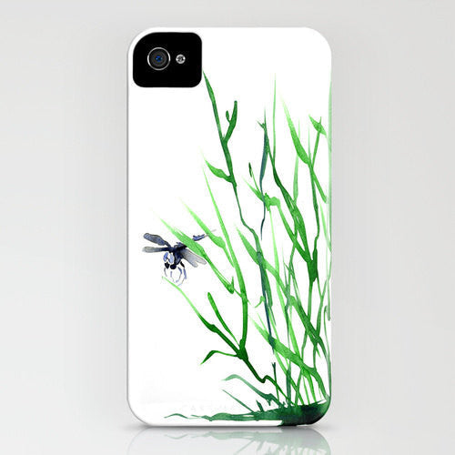 Dragonfly iPhone Case - Zen Watercolor Painting - Designer iPhone Samsung Case - Brazen Design Studio