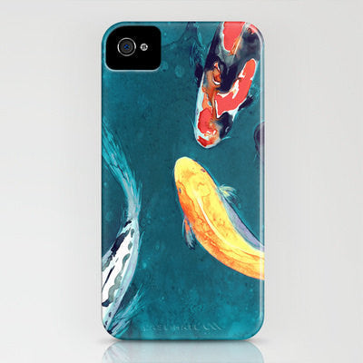 Koi Fish iPhone 7 Case - Water Ballet Watercolor Painting - Designer Samsung S5 Case - iPhone 6s Case - Brazen Design Studio
