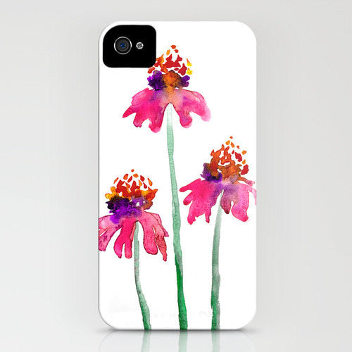 Floral I Phone 7 Case   Watercolor Echinacea...