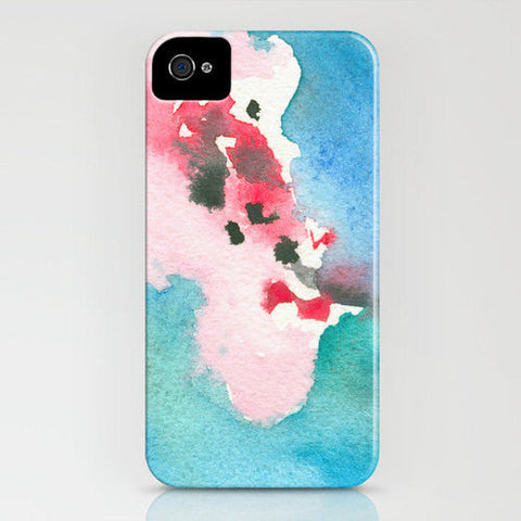 Floral Phone Case Cherry Blossom Watercolor Painting - Designer iPhone Samsung Case - Brazen Design Studio