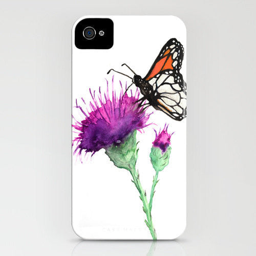Floral Phone Case Butterfly   Milk Thistle  ...