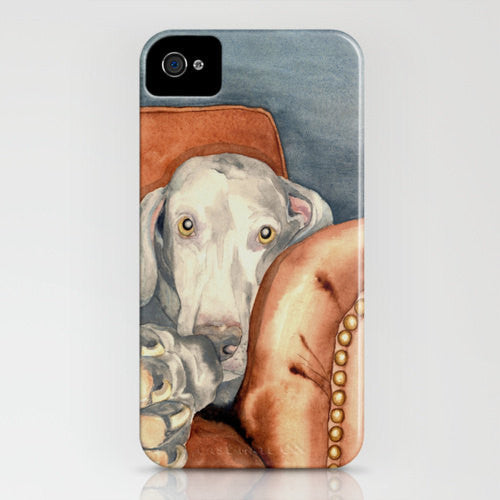 I Phone Case Weimaraner Dog   Pet Painting  ...