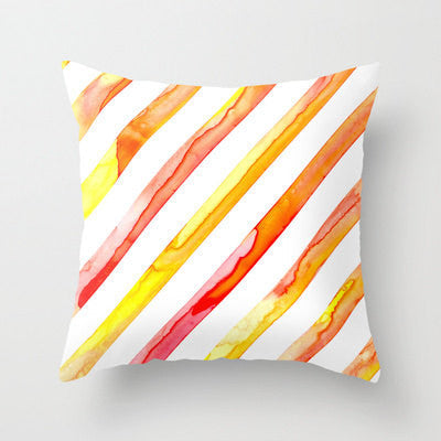 Decorative Pillow Cover - Diagonal Stripes Geometric Design - Throw Cushion - Fine Art Home Decor - Brazen Design Studio