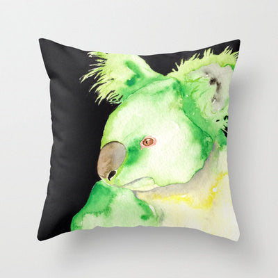 Decorative Pillow Cover - Green Koala Australian Wildlife - Throw Pillow Cushion Home Decor - Brazen Design Studio
