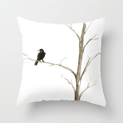 Decorative Pillow Cover - Raven Tree - Throw Pillow Cushion - Fine Art Home Decor - Brazen Design Studio
