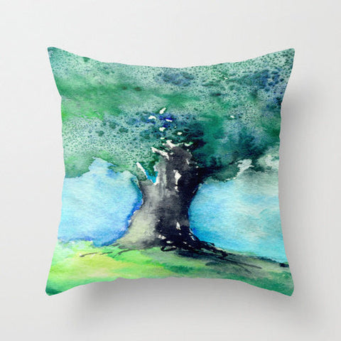 Decorative Pillow Cover - Oak Tree - Woodland Decor - Throw Pillow Cushion - Fine Art Home Decor - Brazen Design Studio