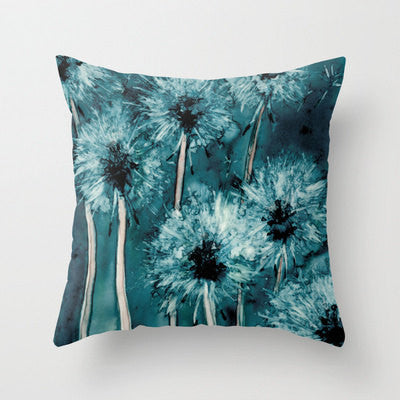 Decorative Pillow Cover - Dandelion Floral Pillow Case - Throw Pillow Cushion Home Decor - Brazen Design Studio