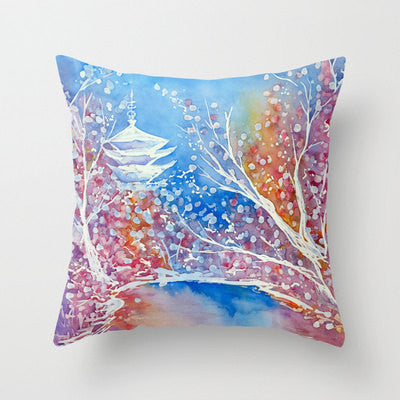Decorative Pillow Cover - Blue Abstract Art - Throw Pillow Cushion - Fine Art Home Decor