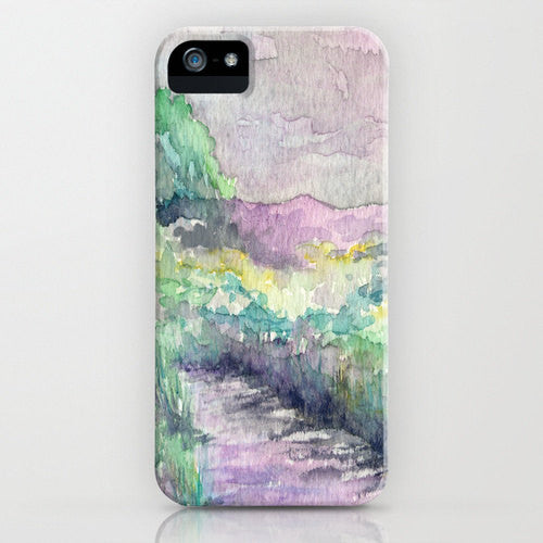 Phone Case Midland Marsh - Watercolor Painting - Designer iPhone Samsung Case