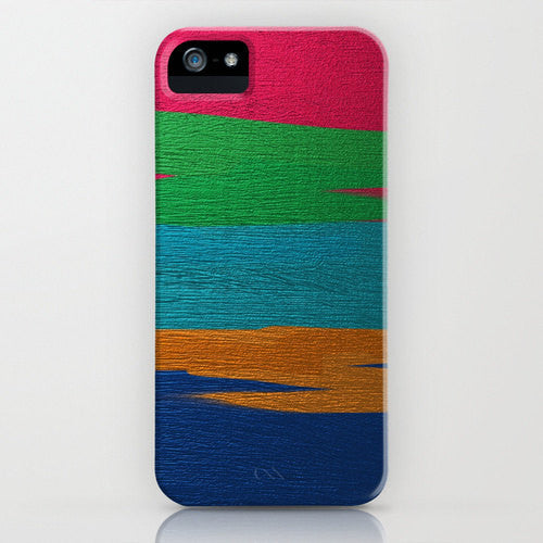 Geometric Phone Case - Linear Abstract Painting - Designer iPhone Samsung Case - Brazen Design Studio