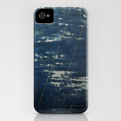 Phone Case Blue Jean Texture Painting - Designer iPhone Samsung Case - Brazen Design Studio