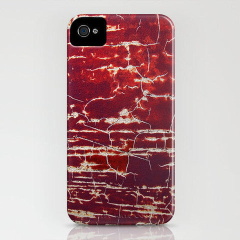 Red Lines Texture Abstract Phone Case -  Painting - Designer iPhone Samsung Case - Brazen Design Studio