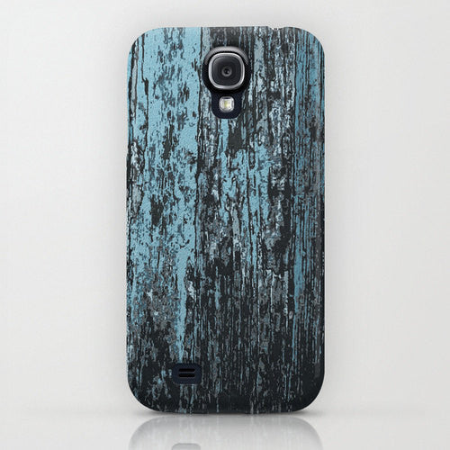 Phone Case Blue Rustic Barnwood Abstract Painting - Designer iPhone Samsung Case - Brazen Design Studio