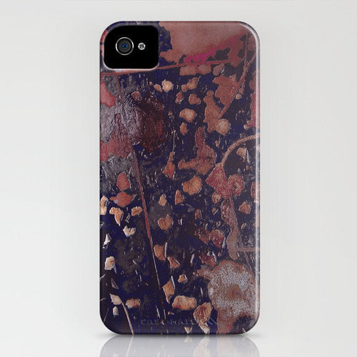 Ruset Gold Abstract Phone Case - Texture Painting - Designer iPhone Samsung Case - Brazen Design Studio