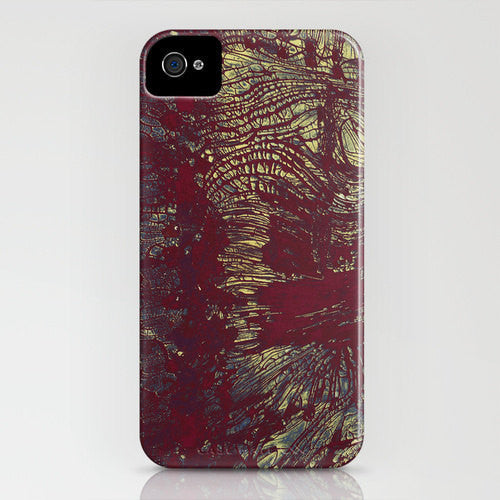 Rusty Gold Abstract Phone Case - Texture Painting - Designer iPhone Samsung Case - Brazen Design Studio