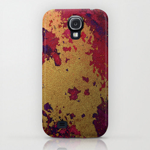 Gold Leaf Texture Abstract Phone Case - Painting - Designer iPhone Samsung Case