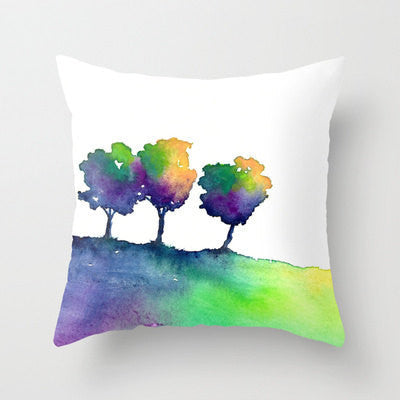Decorative Pillow Cover - Hue Tree - Woodland Decor - Rainbow Throw Pillow Home Decor - Brazen Design Studio