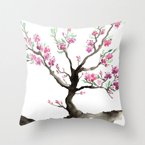 Decorative Pillow Cover - Sakura Tree - Woodland Decor - Throw Pillow Home Decor - Brazen Design Studio