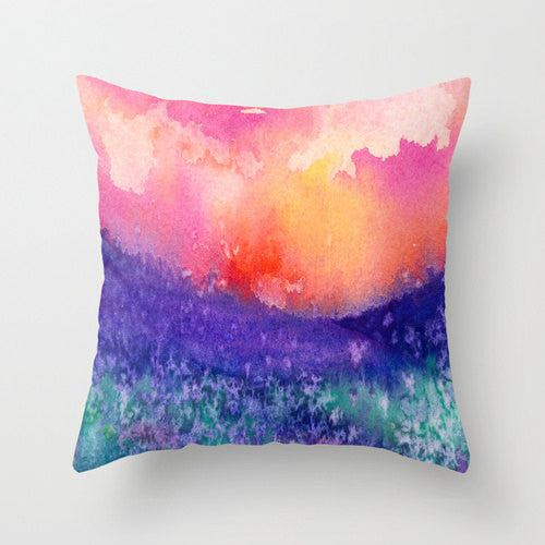 Decorative Pillow Cover - Lupin Painting - Throw Pillow Cushion - Home Decor - Brazen Design Studio