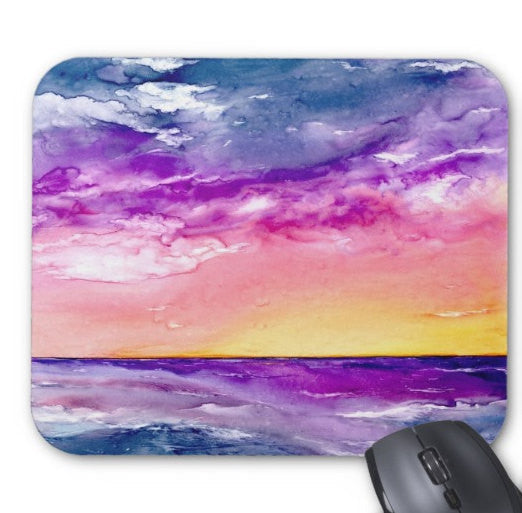 Mousepad   Tormenta Ocean Watercolor Painting  ...