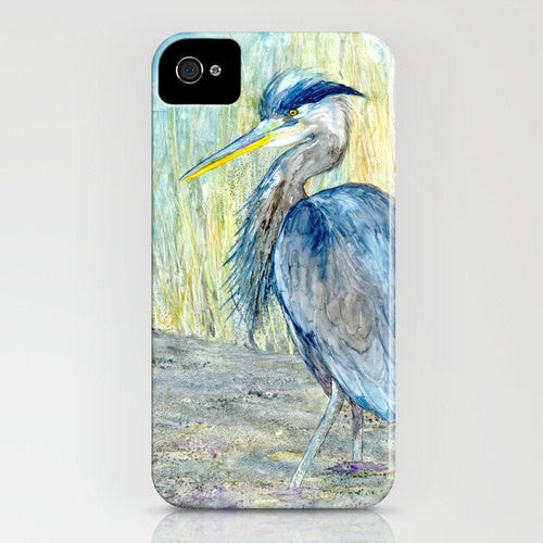 Great Blue Heron Phone Case - Bird Art - Designer iPhone Samsung Case - Brazen Design Studio