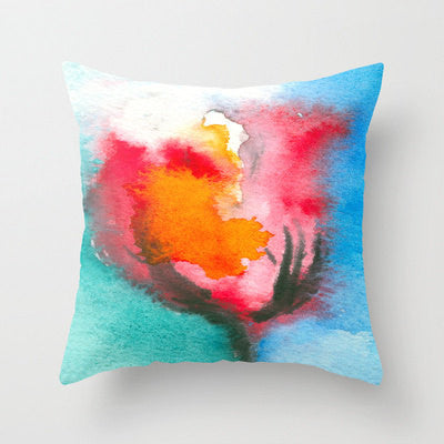 Decorative Pillow Cover - Tulip - Floral Throw Pillow Cushion - Fine Art Home Decor - Brazen Design Studio