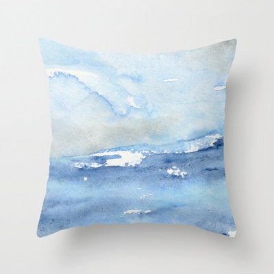 Decorative Pillow Cover - Ocean Wave Painting - Throw Pillow Cushion - Home Decor - Brazen Design Studio
