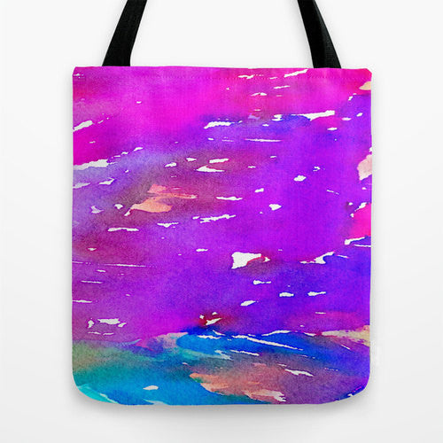 Tote Bag - Abstract Watercolor Painting - Shopping Bag - Brazen Design Studio